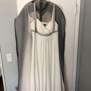 JS Boutique White Criss Cross embellished bodice